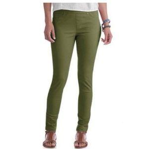 Olive Green H&M Jeggings Pants Medium 8 Ladies